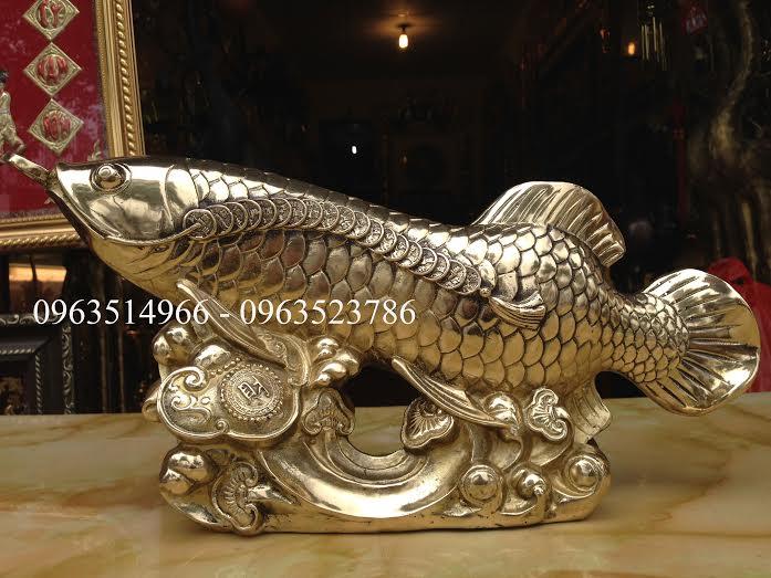81. Tượng cá rồng tài lộc bằng đồng tại Thành Phát.1