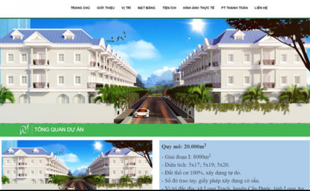 Báo giá thiết kế website bất động sản chi tiết nhất